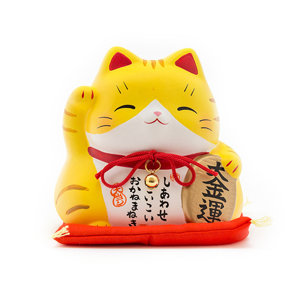 japan centre lucky cat coin bank yellow japan fan. Black Bedroom Furniture Sets. Home Design Ideas