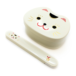10402 lucky cat bento set white main