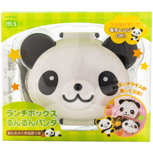 japan centre panda shaped bento lunch box with drawstring pouch bento boxes. Black Bedroom Furniture Sets. Home Design Ideas