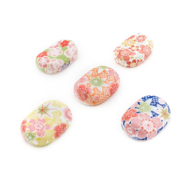 6857 ceramic chopstick rests flower main