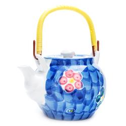 10612 teapot blue flowers