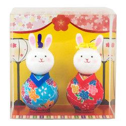 10931 hinamatsuri rabbit dolls box