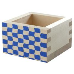 11208 masu cup blue check pattern