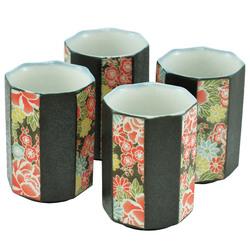 11298 teacup set flower pattern
