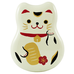 5974 lucky cat lunch box white main