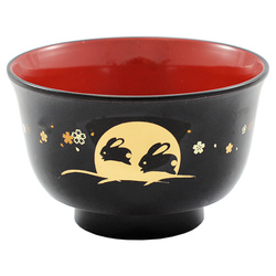 11550 bowl black rabbit pattern