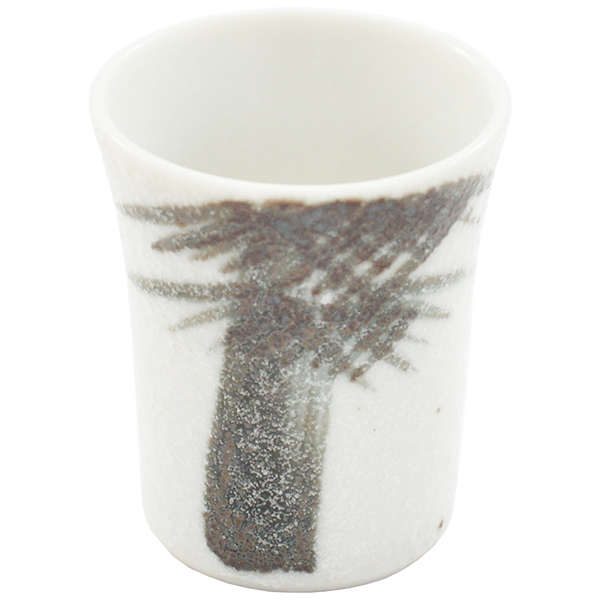 11749 cup white bamboo pattern