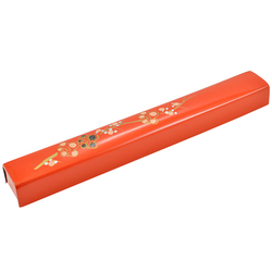 11788 chopstick case red flower pattern side