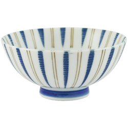 11902 bowl blue brown stripe pattern
