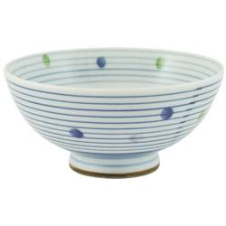11909 bowl blue stripe spot pattern