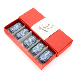 11915 ceramic chopsticks rest set blue wave pattern 2