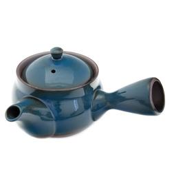 11609 ceramic teapot blue