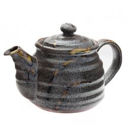 11852 ceramic teapot brown rustic