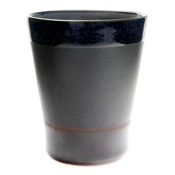 11767 ceramic teacup black brown blue border