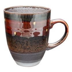 11764 ceramic mug brown black spotted