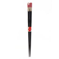 11892 wooden lucky cat chopsticks red