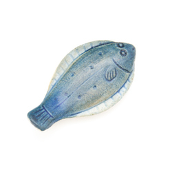 11635 ceramic chopstick rest blue flounder