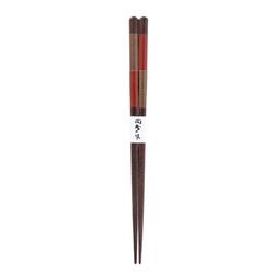 11537 wooden chopsticks red alternate stripe