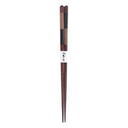 11536 wooden chopsticks black alternate stripe