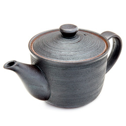 11663 ceramic teapot brown rigid effect