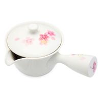 Ceramic Teapot  White Pink Cherry Blossom Pattern
