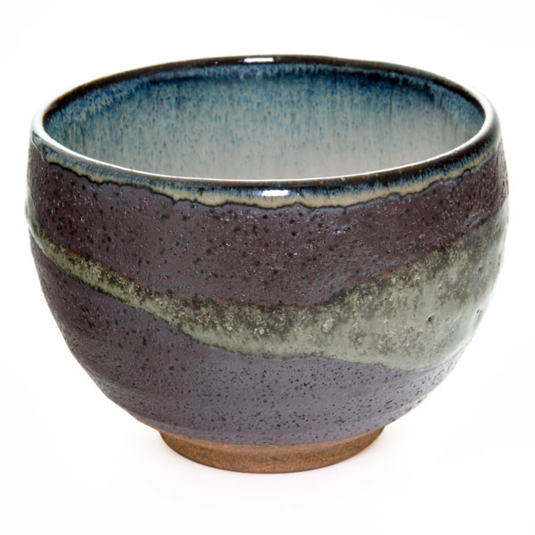 11804 ceramic teacup purple brushstroke pattern