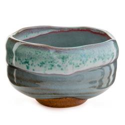 11734 ceramic teacup pale blue mottled pattern