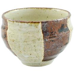 11799 ceramic teacup beige brown stripe pattern