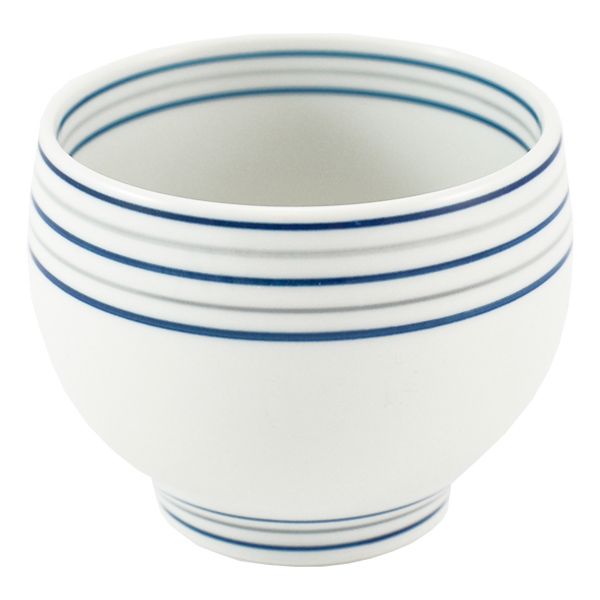 11668 ceramic teacup white stripe pattern