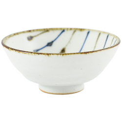 11656 ceramic sake cups white blue brown stripe