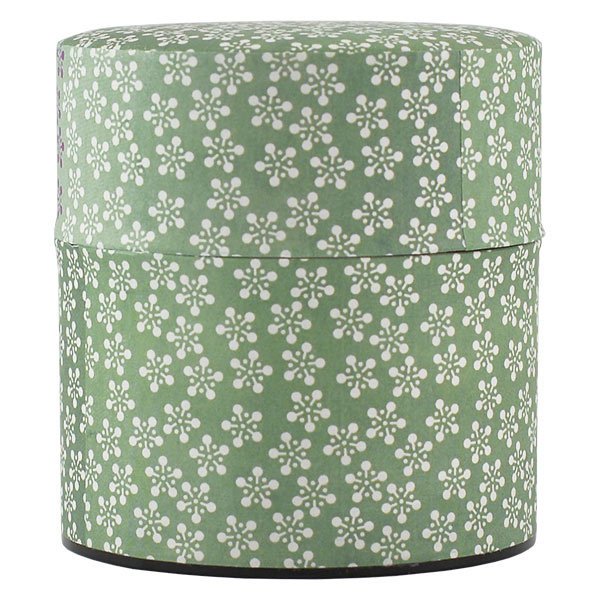 11946 tea canister blue flower pattern