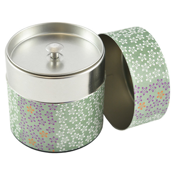 11946 tea canister blue flower pattern open