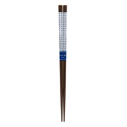 11653 wooden chopsticks white blue dotted pattern