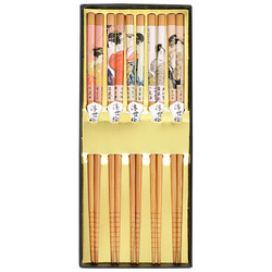 12465 bamboo chopsticks multicolour ukiyoe print open