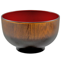 Soup Bowl  Brown And Red