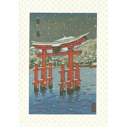 12200 japanese scenery miyajima greeting card