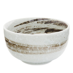 11823 rice bowl white brown brushstroke main