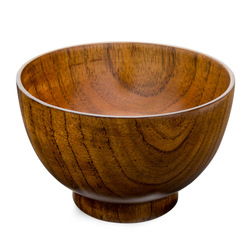 11551 wooden soup bowl