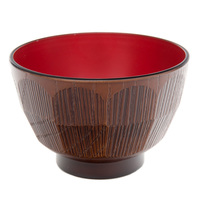 Miso Soup Bowl  Brown And Red