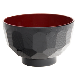 12348 miso soup bowl black red