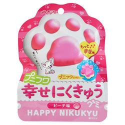 12753 senjyakuame paw shaped peach gummy candy