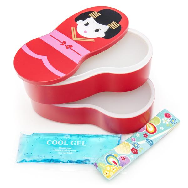japan centre bento lunch box red maihime pattern. Black Bedroom Furniture Sets. Home Design Ideas