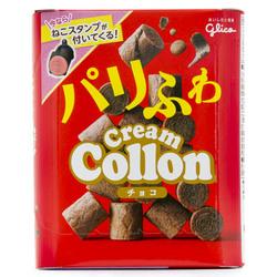 12997 glico chocolate cream collon cream biscuits