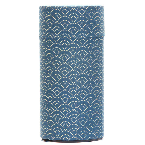 13140 tea canister blue wave pattern
