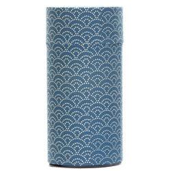 13140 tea canister blue wave pattern