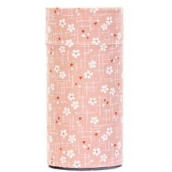 13137 tea canister pink cherry blossom pattern