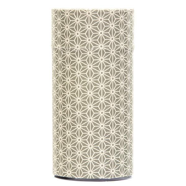 13138 tea canister green hemp leaf pattern