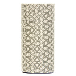 13138 tea canister green hemp leaf pattern