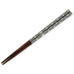 13095 wooden chopsticks blue hemp leaf pattern