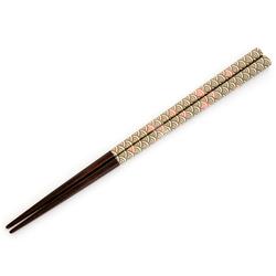 13093 wooden chopsticks pink wave pattern